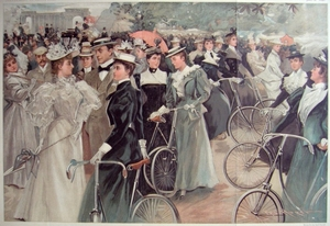 Cycling in Hyde Park