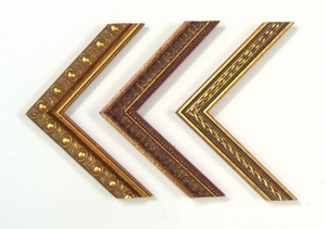 Decorative gold wood frames