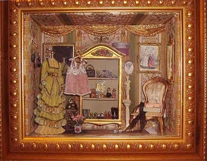 Diorama of 19th Century Dressing Room