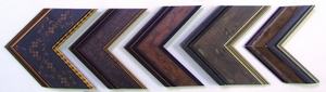 Distressed and decorative finish wood frames
