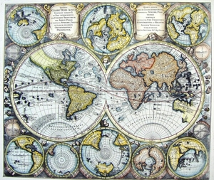Earth and Oceans World Maps