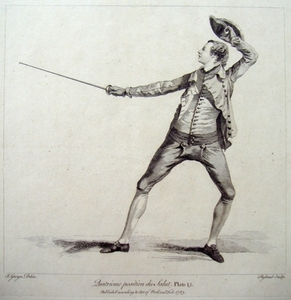 Fencing - Quatrieme position du Salut