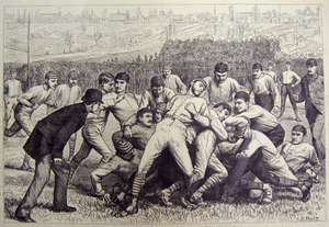 Foot-ball match between Yale and Princeton