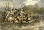 French Soldiers on Horseback