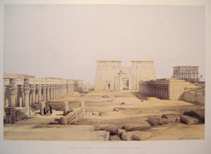 Grand Approach to the Temple of Philae-Nubia