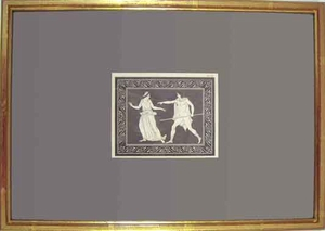 Greco Minoan Engraving - Framed Example