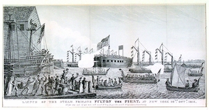 Launch of the Steam Frigate Fulton