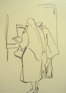 Man and Woman Looking into Shop Window