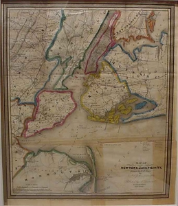 Map of New York and its Vicinity - 1835 - SOLD