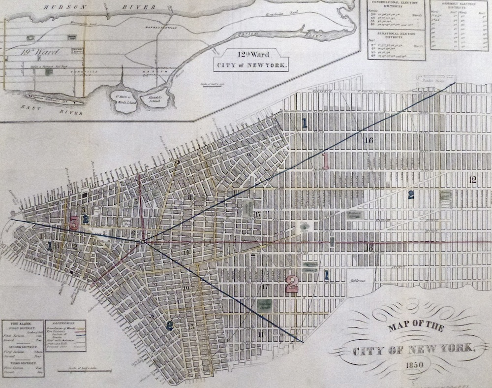 Map Of New York 1850.Map Of The City Of New York 1850