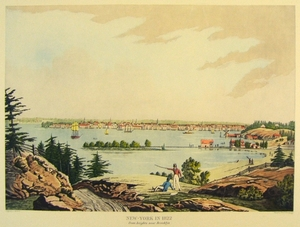 New-York in 1822, from heights near Brooklyn.