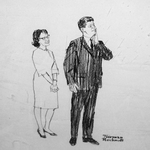 Norman Rockwell Drawings of the Kennedys