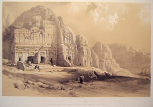 Petra, Shewing the Upper or Eastern End of the Valley