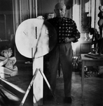 Picasso in His Studio
