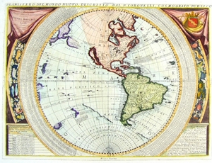 Planisphere of the New World, by P. Coronelli