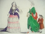 Portrait of Two Fashionably Dressed Ladies