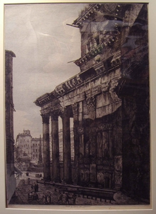 Rear View of the Pantheon in Rome