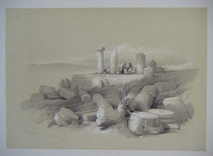 Ruins of an Ionic Temple; Ruins Called Om El Hamed near Tyre