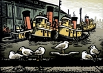 Seagulls and Tugs