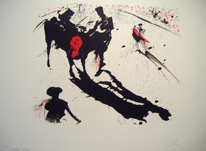 Taureaumachie de Dali:  Bull Fight No. 1