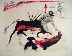 Taureaumachie de Dali:  Bull Fight No. 3
