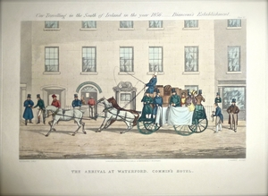 The Arrival at Waterford.  Commin's Hotel.