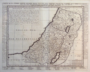 The Holy Land divided among the 12 Tribes of Israel