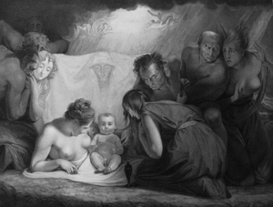 The Infant Shakspeare attended by Nature and the Passions