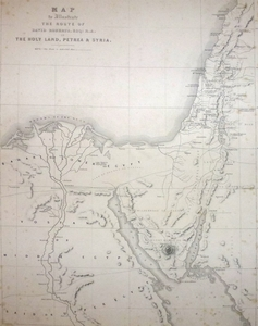 The Route of David Roberts, Esq. in the Holy Land, Petrea & Syria