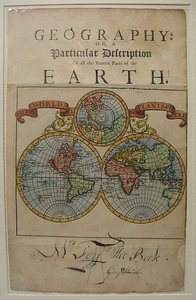 The World in Planisphere - 1701
