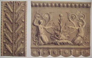 Two Greek Friezes in Terra Cotta