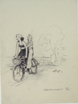Two women enjoying a bike ride. Nantucket.