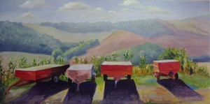 Wine Harvest Wagons, Tuscany