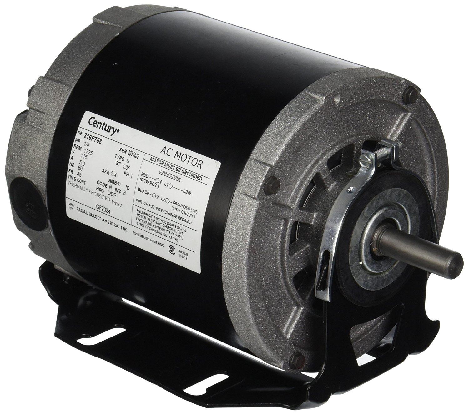 mtrgf2024 a o smith furnace blower motor 115 volts. Black Bedroom Furniture Sets. Home Design Ideas