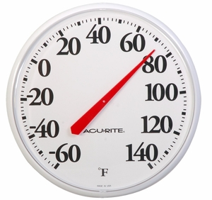 Acurite Indoor or Outdoor Thermometer, 12.5 Inch, 01360