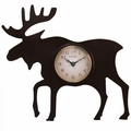 "Chaney, 12"" Moose Silhouette Wall Clock, 75143A1"