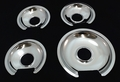 Chrome Burner Pans for General Electric, (3) WB32X10012 & (1) WB32X10013, GEDP31GE