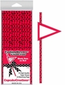 Cupcake Creations, Fashion Straws & Name Flags, Black Dots on Red, 24 Pk, 7007