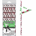 Cupcake Creations, Fashion Straws & Name Flags, Red Ladybugs, 24 Pk, 7012
