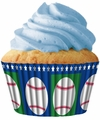 Cupcake Creations, No Muffin Pan Required Baking Cups, Baseball, 8979