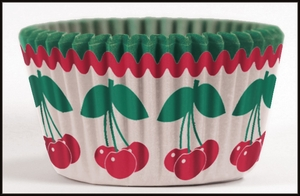 Cupcake Creations, No Muffin Pan Required Baking Cups, Harvest Fruit Cherry, 8975