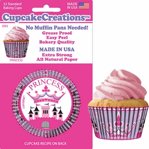 Cupcake Creations, No Muffin Pan Required Baking Cups, Princess, 89832