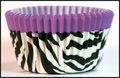 Cupcake Creations, No Muffin Pan Required Baking Cups, Purple Zebra, 89572
