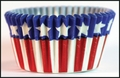 Cupcake Creations, No Muffin Pan Required Baking Cups, Stars & Stripes, 88342