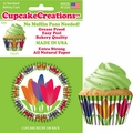 Cupcake Creations, No Muffin Pan Required Baking Cups, Tulips, 89842