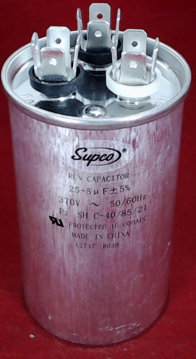 Cd25 5x370r Dual Run Capacitor Round 25 5 Mfd 370 Volt