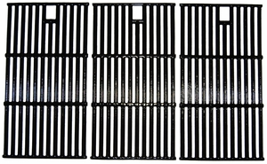 Gas Grill Cast Iron Cooking Grid, 3 pcs, for Kenmore & Others, 65223