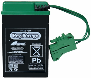 Genuine OEM Peg-Perego 6-Volt Battery, IAKB0509