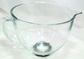 KitchenAid 5 Qt Glass Bowl w/ Handle & Thread Ring, K5GB, W10154769 & W10220977