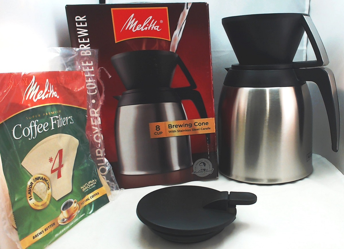 melitta stainless steel pourover thermal carafe